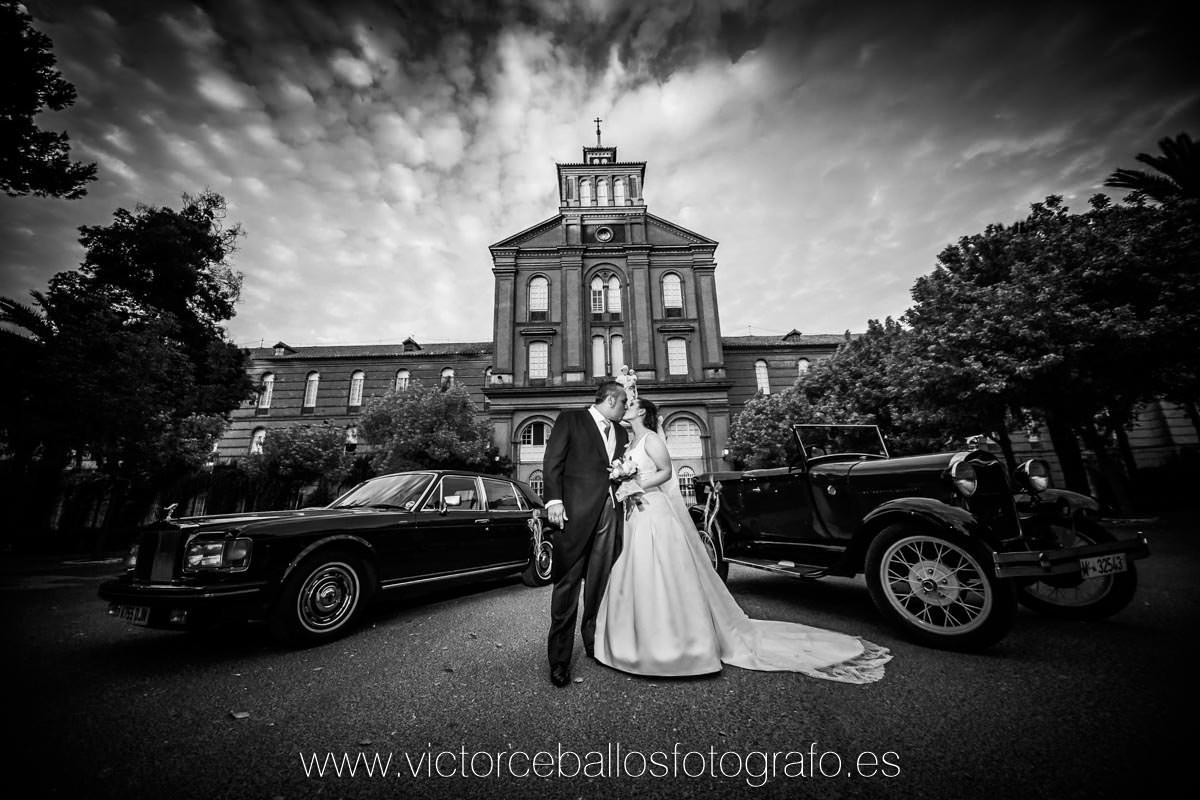 Reportaje exteriores boda coches