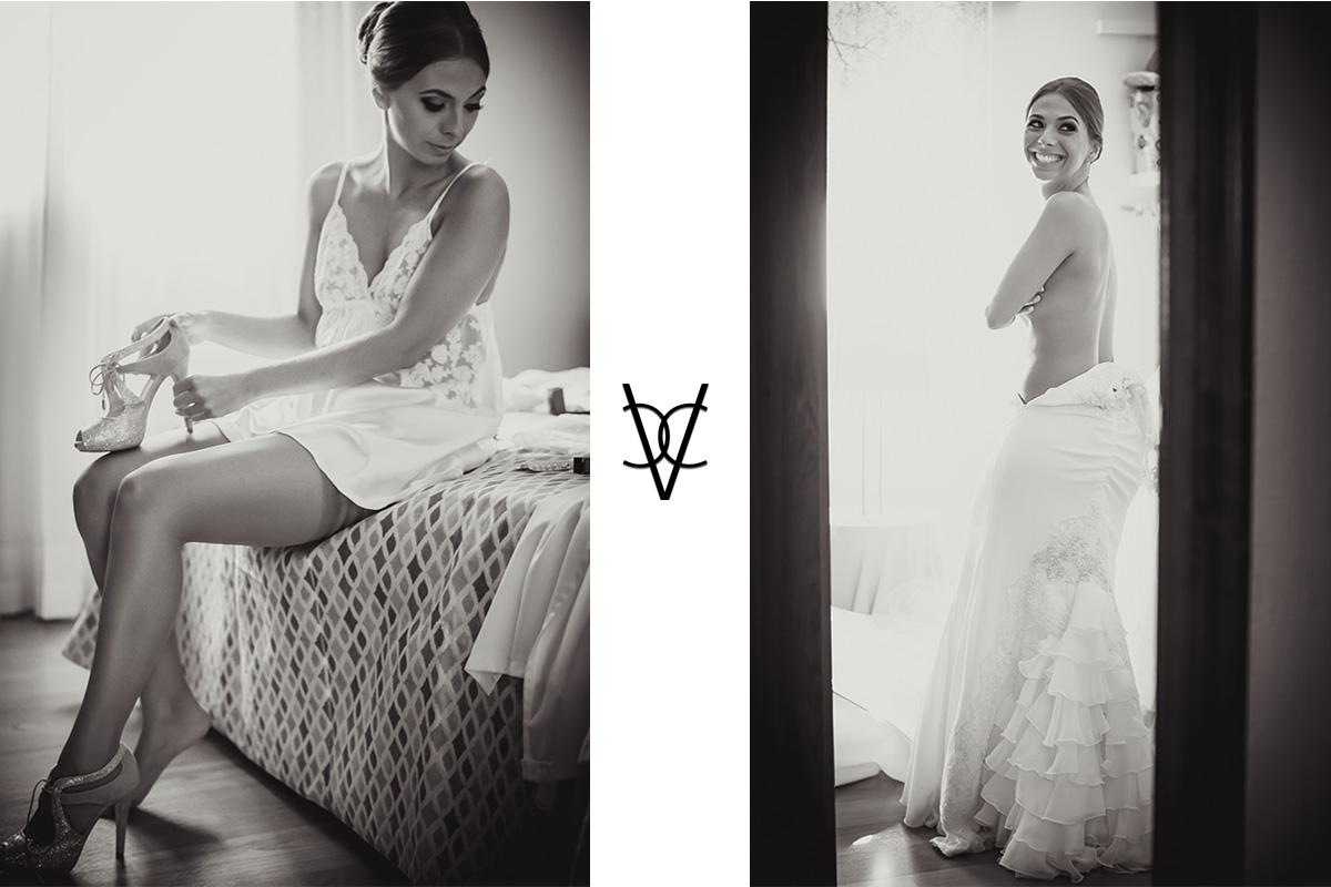 Foto de preparativos de la novia