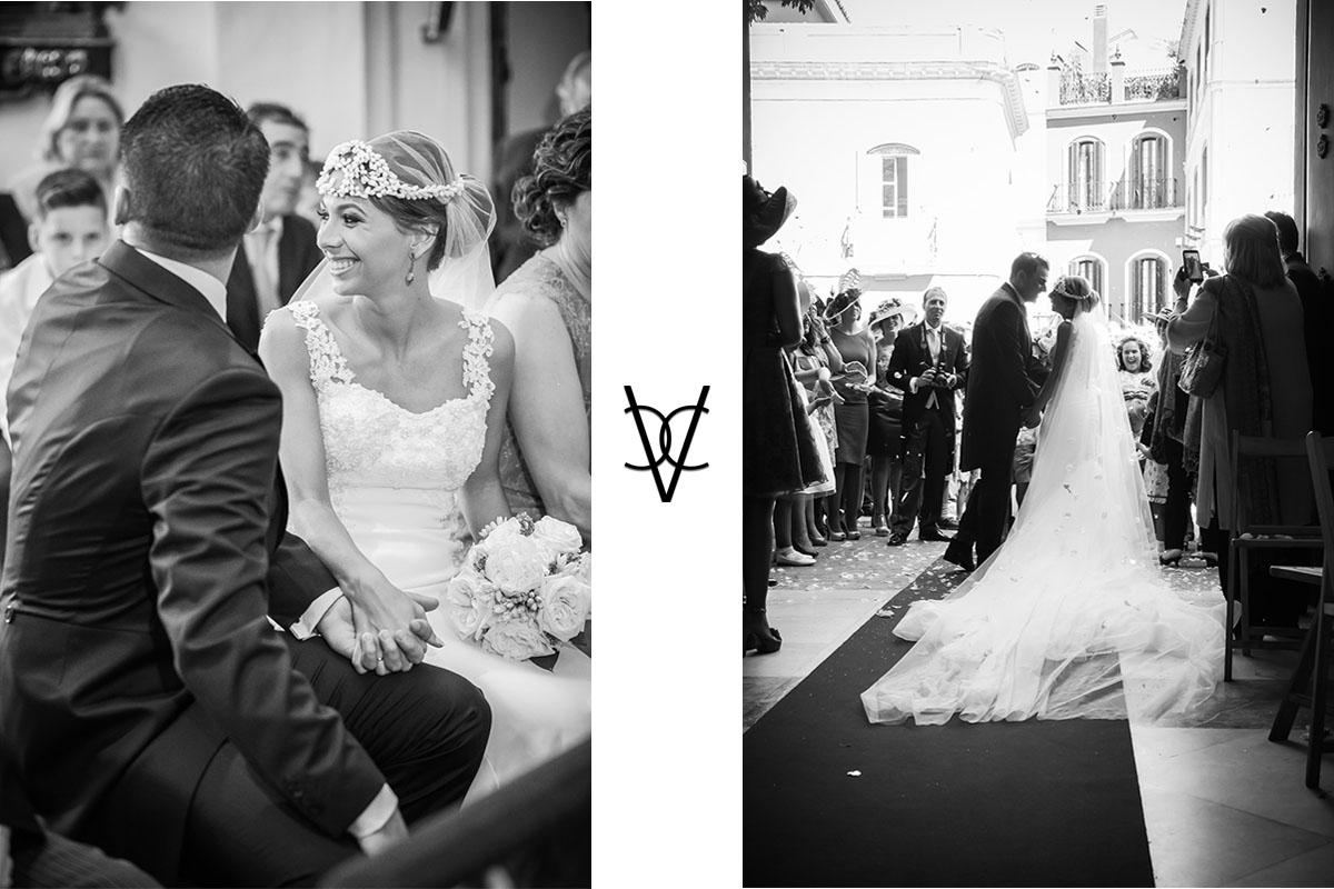 fotos de ceremonia de boda en el baratillo de Sevilla