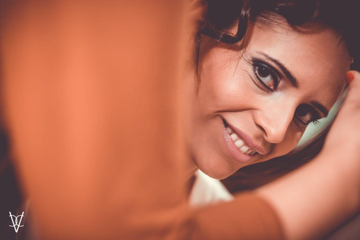 Retrato novia sonriendo