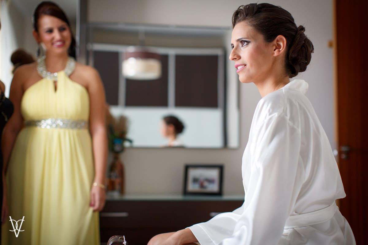 foto novia sentada