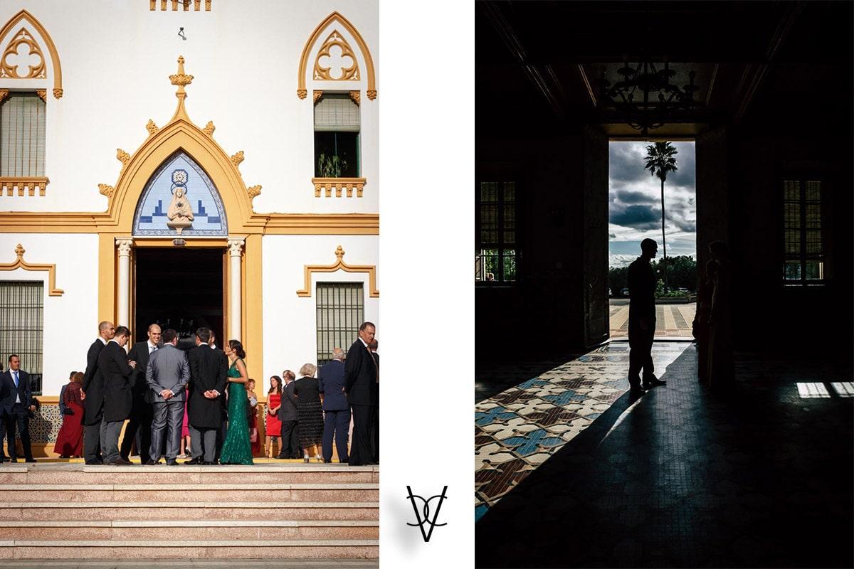 Foto iglesia entrada novio