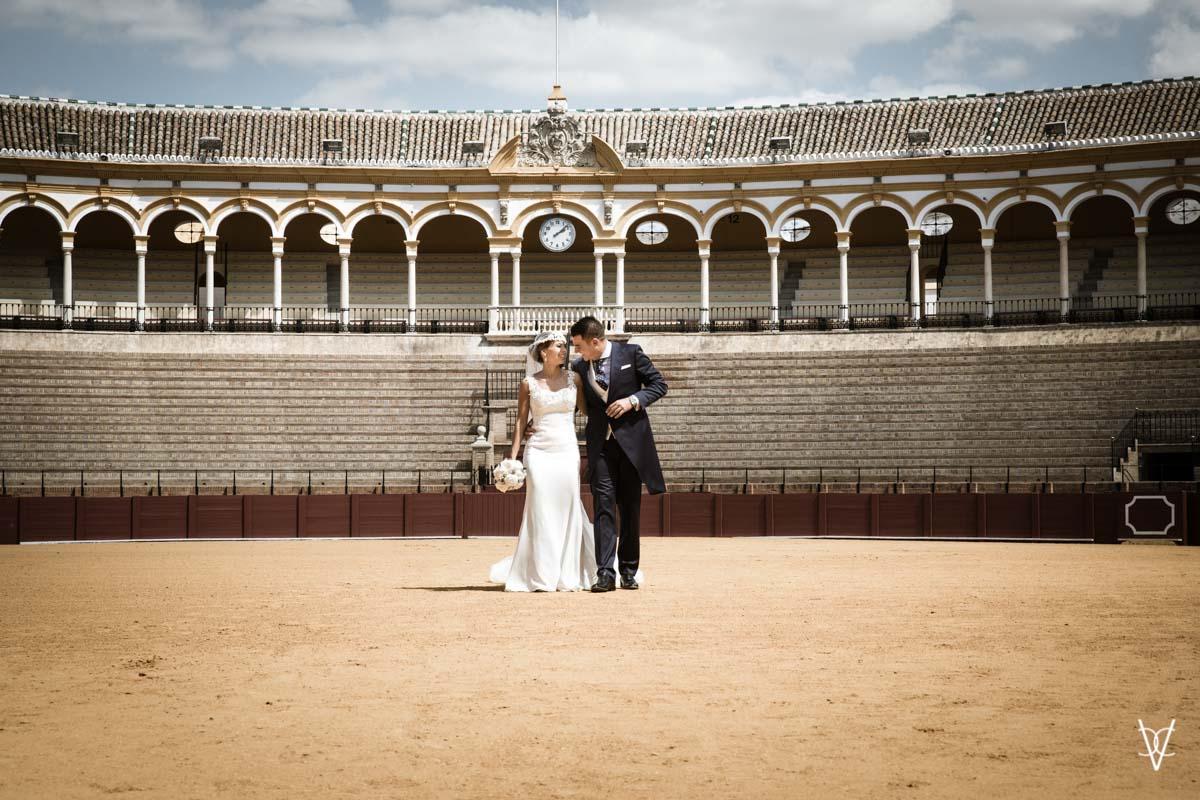 boda en la Maestranza de Sevilla reloj