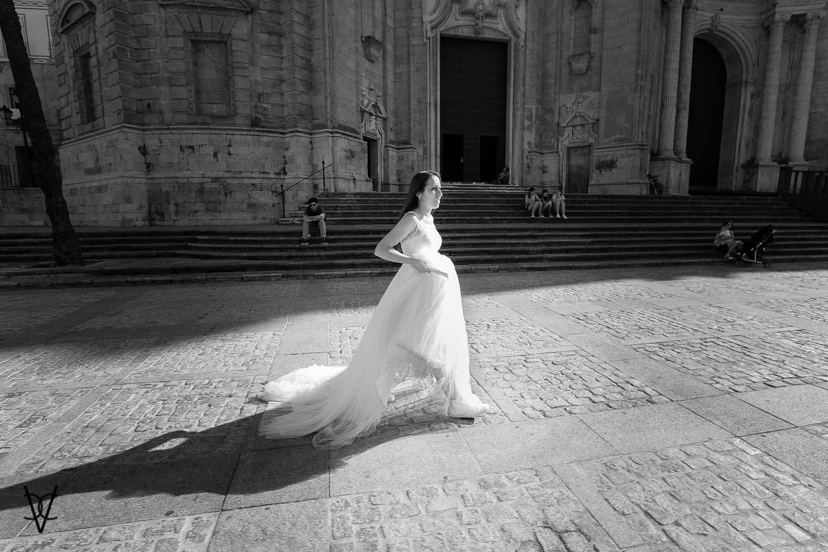 fotografía de novia Sevillana en Cádiz