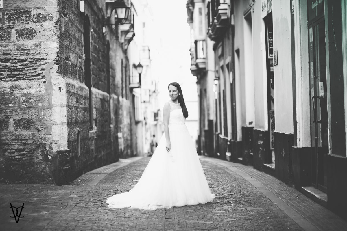 Fotos postboda en Cádiz preciosa novia en la Viña de Cádiz
