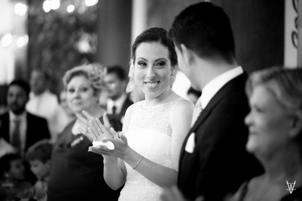 Fotografía de novia Sevilla emocionada