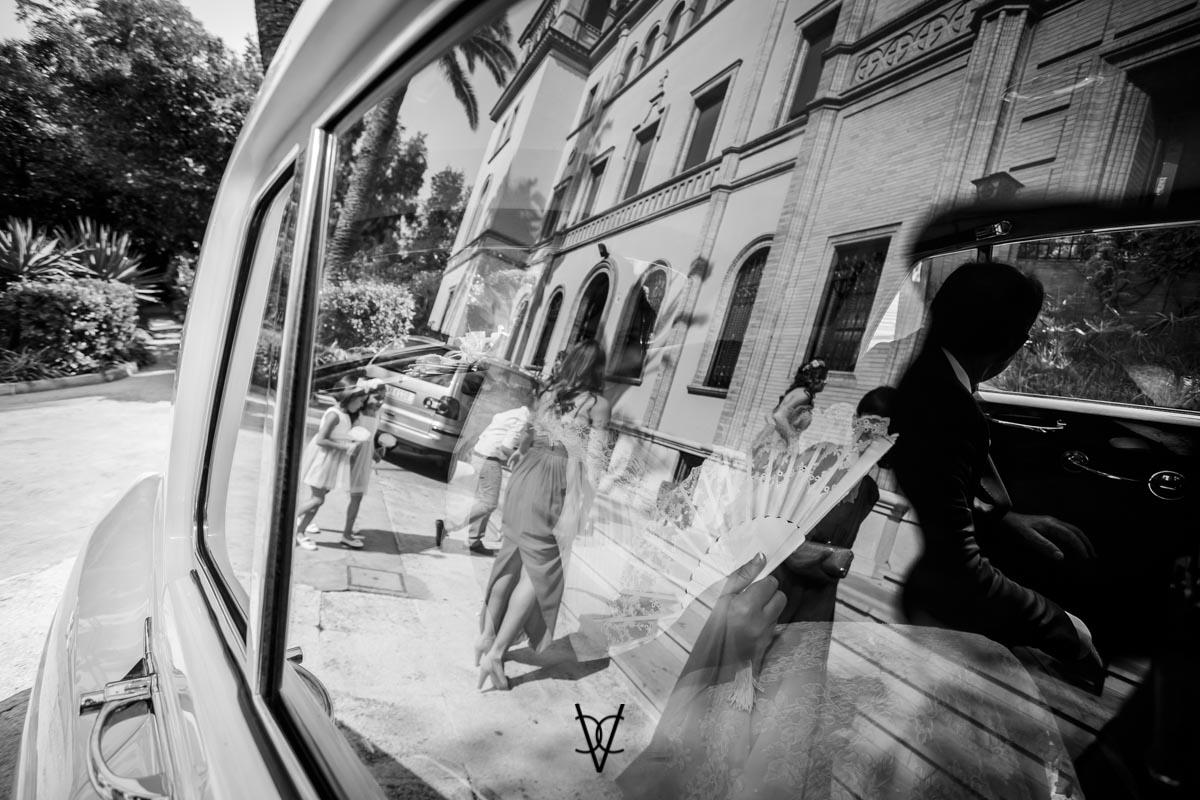 Fotografía de reflejos en el Rolls Royce