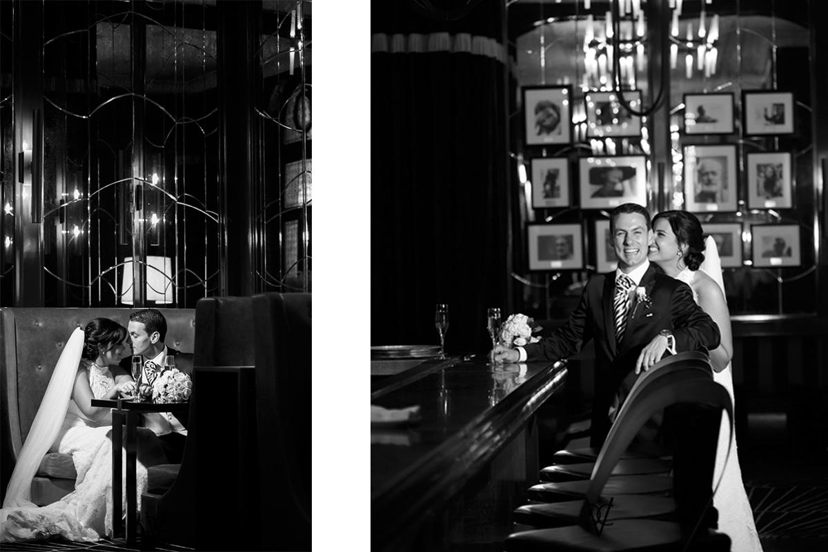 fotografía posado novios en hotel Alfonso XIII Sevilla